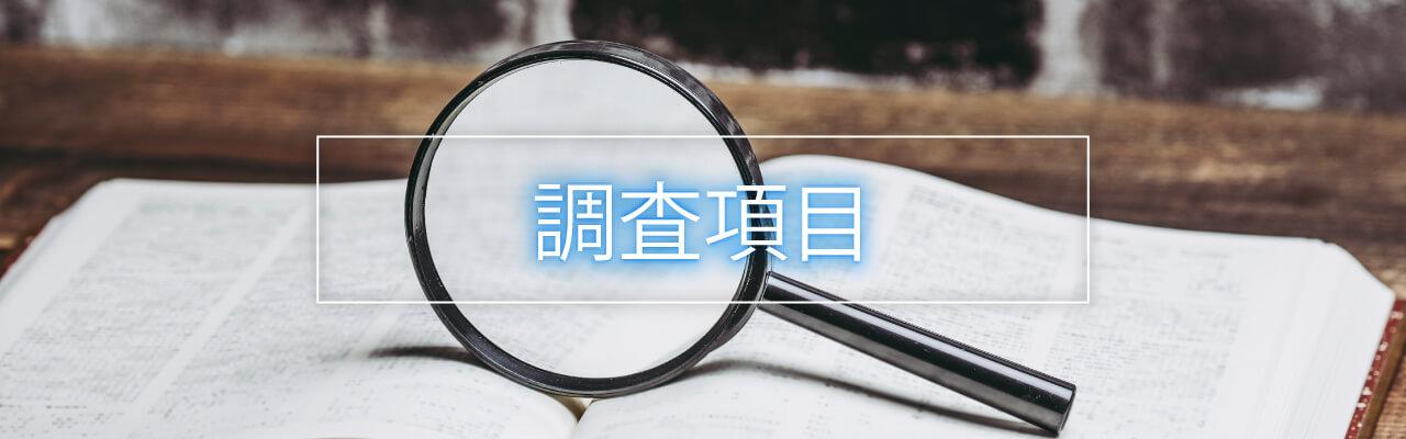 探偵 福岡の興信所|探偵調査項目一覧