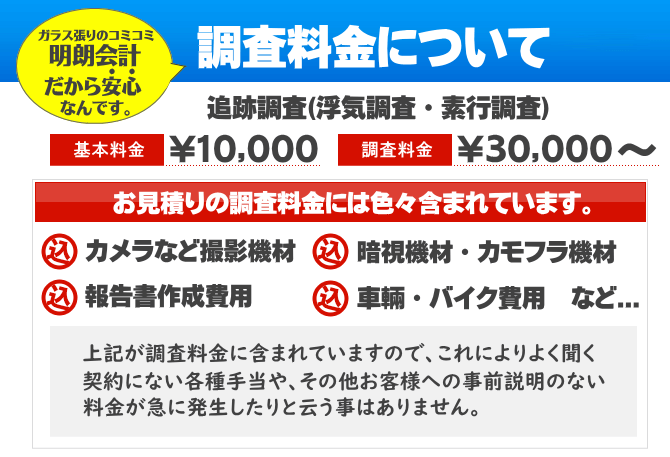 探偵 福岡の興信所|調査料金について